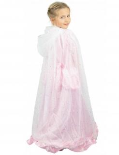 Prinzessin-Umhang für Kinder Accessoire weiss-silber