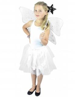 Fee-Kostüm für Kinder mit Pailletten Faschingskostüm weiss