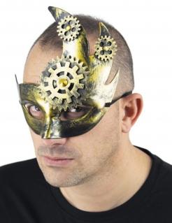 Steampunk-Augenmaske gold
