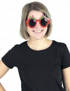 Erdbeer-Spaßbrille für Erwachsene Kostümaccessoire rot-grün