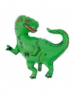 T-Rex-Luftballon Dinosaurier-Deko grün 77 x 78 cm