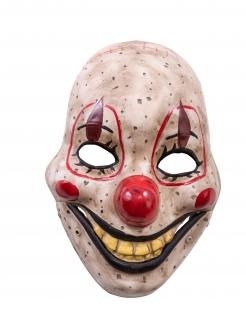 Horrorclown-Maske mit beweglichem Kiefer Halloween-Maske bunt