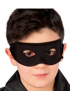 Augenmaske für Kinder dunkler Ritter Accessoire schwarz