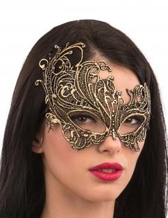Augenmaske aus Makramee Accessoire gold