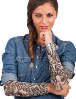 Armstulpen falsche Tattoos Accessoire haut-schwarz