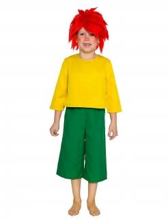 Offizielles Pumuckl™-Kostüm für Kinder Lizenzkostüm gelb-grün