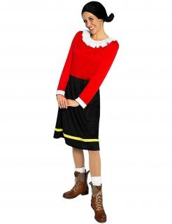 Offizielles Olivia™-Kostüm Popeye™-Lizenzkostüm rot-schwarz