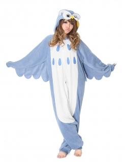 Eulen-Kostüm Kigurumi™ Tierkostüm grau-weiss
