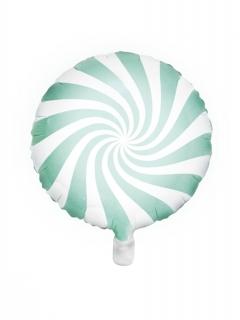 Lollo-Luftballon Aluminium Party-Dekoration türkis-weiss 45cm
