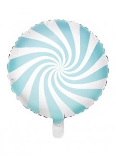 Bon-Bon-Luftballon lustiger Motivballon weiss-blau 45cm