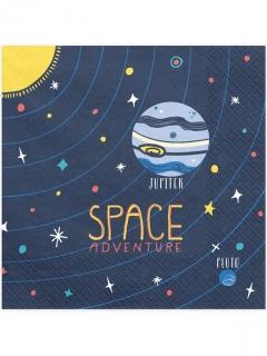 Papierservietten Space Adventure Motivservietten 20 Stück blau-bunt 33 x 33 cm