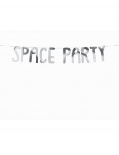Weltraum-Girlande Space Party silber 96cm