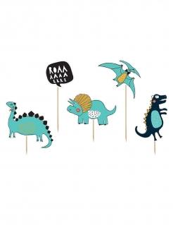 Dino Kuchendekorations-Set 5-teilig bunt 10,5 - 20 cm