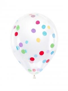 Durchsichtige Luftballons Konfetti-Ballons bunt 30 cm