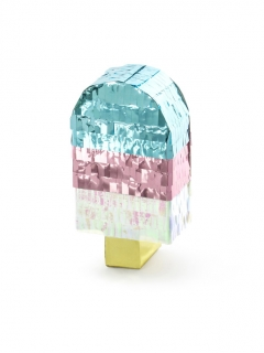 Eiscreme Mini-Pinata bunt 6 x 11,5 x 3,5 cm