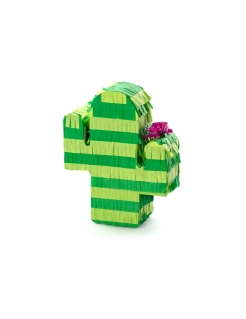 Kaktus Mini-Pinata grün-rosa 9,5 x 11,5 x 3,5 cm