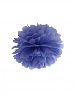 Pompon Raumdekoration blau 35 cm