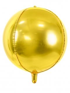 Runder Aluminium-Ballon Raumdekoration gold 40 cm