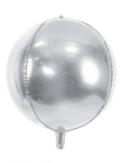 Aluminiumballon mit Metalleffekt silberfarben 40 cm