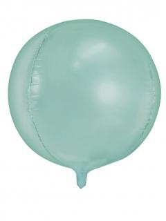 Aluminium-Ballon rund metallic türkis 40 cm
