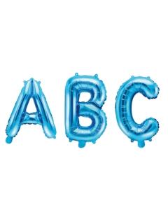 Auswählbarer Buchstabenballon Folienballon Buchstabe blau 35cm