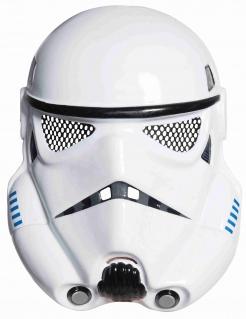 Stormtrooper-Halbmaske für Erwachsene Star Wars™ weiss-schwarz-blau
