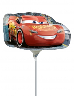 Cars 3™-Luftballon am Stab Alu-Ballon Dekoration bunt 33x30 cm