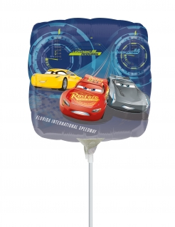 Cars 3™-Luftballon quadratisch Party-Deko bunt 23x23 cm