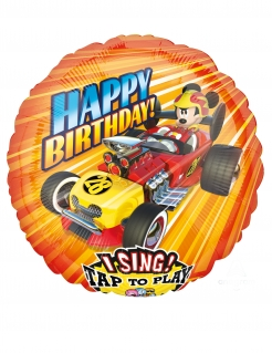 Mickey Maus™-Aluballon Roadster Racers mit Sound Partydeko bunt 71 x 71 cm