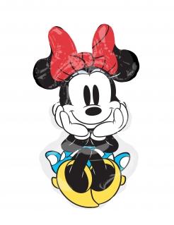 Minnie Maus™ Retro-Luftballon Partydeko bunt 50 x 86 cm