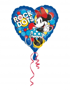 Minnie Maus™-Luftballon Rock the Dots Herzform Deko bunt 43 cm