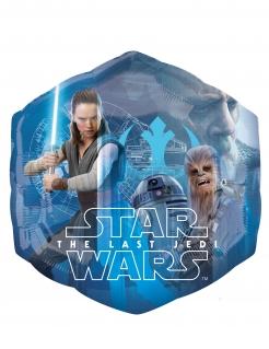 Star Wars™-Luftballon Star Wars Die letzten Jedi™ sechseckig Partydeko blau 55x58 cm
