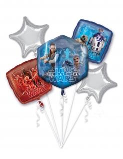 Star Wars™-Luftballon Strauss Die letzten Jedi™ Partydeko 5 Stück blau-silber-rot