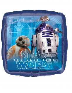 Star Wars Die letzten Jedi™-Aluminiumballon bunt 43 x 43 cm