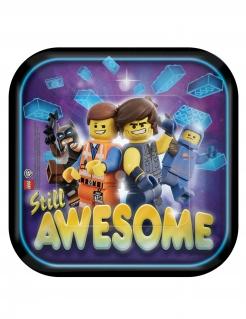 Lego Movie 2™-Pappteller 8 Stück bunt 18 x 18 cm