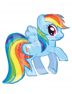 My little Pony™ Ballon Rainbow Dash bunt 71 x 68 cm
