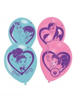 Luftballons Nella, die Ritterprinzessin™ 6 Stück blau-rosa 28cm