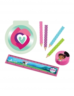 Nella Princess™-Schreibset für Kinder Partydeko 16-teilig pink