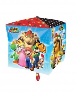 Super Mario™-Luftballon Würfelform Partydeko bunt 38x38 cm