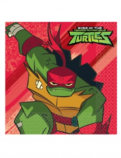 Ninja Turtles™-Servietten Rise of the Ninja Turtles™ Partydeko bunt 33x33 cm