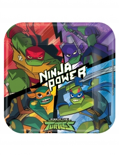 Ninja Turtles™-Partyteller 8 Stück bunt 23 x 23 cm