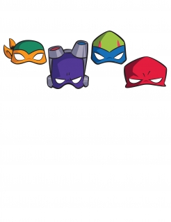 Ninja Turtles™ Masken Party-Masken 8 Stück bunt