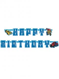 Transformers™-Girlande Happy Birthday Deko blau 180x15 cm