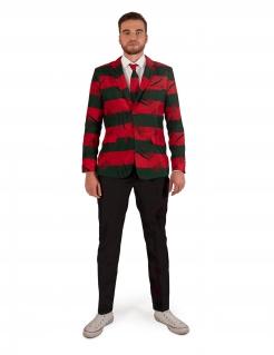 Stylisches Freddy Krueger™ Kostüm für Herren Suitmeister™ rot-grün-schwarz