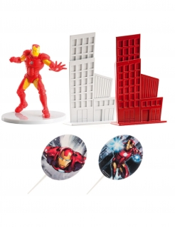 Iron Man™ Kuchendekorations-Set 5-teilig bunt 8 cm