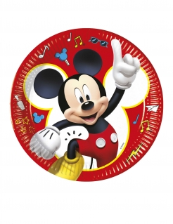 Mickey Maus™ Pappteller 8 Stück bunt 23 cm