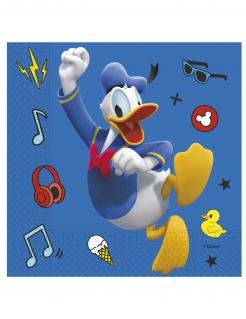 Mickey Maus Papierservietten Spielkamerad Donald Duck™ 20 Stück bunt 33 x 33 cm