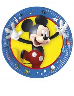 Kleine Mickey Maus™ Pappteller 8 Stück bunt 20 cm
