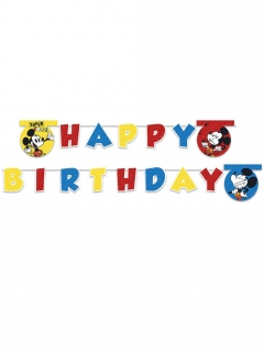 Micky Super Cool™-Geburtstagsgirlande bunt 2 m