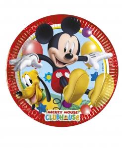 Micky Maus Wunderhaus™ Pappteller 8 Stück bunt 20 cm